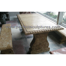 Stone Marble Table for Antique Garden Ornament (QTS017)