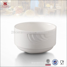 Porcelain tableware white ceramic melamine chinese rimmed soup bowl