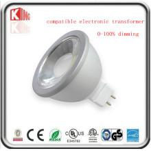 Projecteur de 5W / 7W Dimmable 12V LED MR16 avec la base de Gu5.3