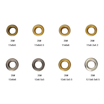 Various Custom Metal Shoe Eyelets