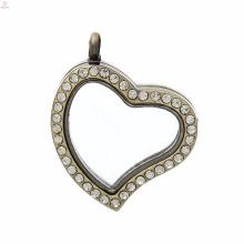 стекло медальон ювелирные изделия комплект с плавающей сердце