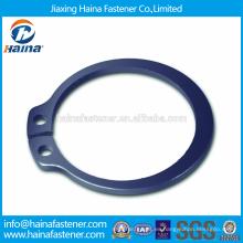Proveedor Chino Mejor Precio DIN471 Acero al carbono Anillos de retención para eje con dacromet / superficie de óxido negro
