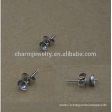 BXG029 Stainless earring supplies, pad posts and stainless Steel backs,hypoallergenic jewelry findings