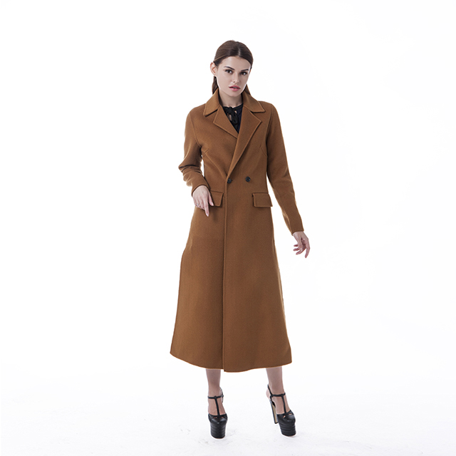 Fashion chocolate cashmere overcoat