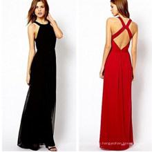 Sexy Frauen Sommer Chiffon langes Kleid (14317-1)