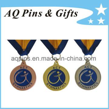 Medalhas de atacado com fita para ginástica