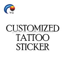 Servicio personalizado de etiqueta adhesiva temporal