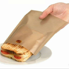 PTFE coated Non-sticky high Temperature resistances non-toxic reusable toast bag