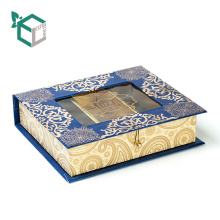 China manufacturer classical design book shape food grade inside chocolate truffle packaging box