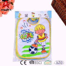 wholesale waterproof custom printed cartoon silicone baby bibs