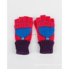 Promoción de acrílico de punto guantes calientes / mitones con bolsillo