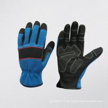 Mirco Fiber Mechanic Arbeitshandschuhe mit PVC Patch auf Palm (7222)