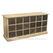 Meubles de coffre à tiroirs de 18 meubles industriels