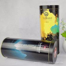 Round Wholesale Tea Tin, estofado promocional, caixa de lata de café