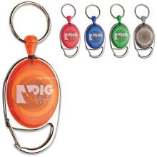 Personalizado personalizado crachá bobinas keychain de 300 pcs