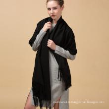 70x200cm design personnalisé épais classique noir long Cachemire infini écharpe
