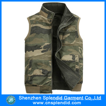 China Factory Wholesale Mens Demin Work Camouflage Vest