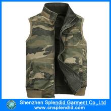 China Fábrica Atacado Mens Demin Trabalho Camuflagem Vest
