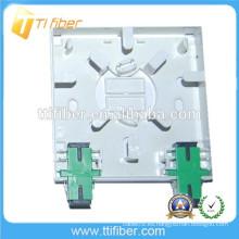 86Tipo de puerto de fibra óptica de 2 puertos / caja de terminales de fibra óptica