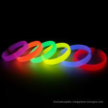 Colorful custom glow wristbands