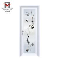 2018 alibaba con recubrimiento de polvo de última puerta de baño de aluminio de diseño