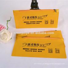 Custom impresso saco de lápis de fecho de correr de PVC