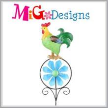 Großhandelstier-Muster-Metall-und Glasgarten-Metallstange
