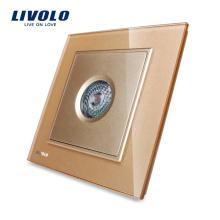 LIVOLO Nouvelle arrivée, panneau en verre doré, contrôle du son et de la lumière / détecteur de mouvement, commutateur VL-W291SG-13