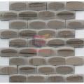Polished Face on Matt Face Mirror Like Marble Stone Mosaic (CFS1076)