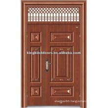 One and Half/Mother and Son Steel Security Door with Window KKDFB-8012 For Main Door Design