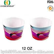 Copo de papel descartável de sorvete, papel Bowl para sopa (12oz-5)