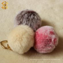 Hochwertige Pelz Tasche Echte Rex Kaninchen Pelz Ball Schlüsselanhänger
