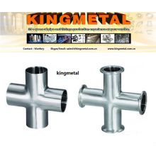"""ANSI316 1.5"""" Food Grade Pipe Connector Stainless Steel Clamp Cross"""