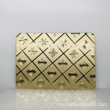 Golden Fancy Acrylic Wall Mirror Sheet