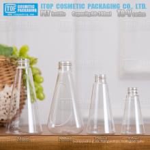 Forma de cono de serie TB-V 60ml 120ml 200ml 240ml color inyección de botellas de pet de tamaño de cuello estándar universal de buena calidad
