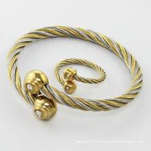 venda quente!!! 2014 bracelete pulseira de moda, pulseira de mulheres de aço inoxidável colorido