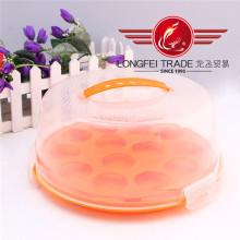 Caixas de bolo redondas plásticas do produto comestível por atacado