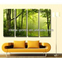 Großhandelssegeltuch grüne Ursprungs-Waldfoto-Drucke für Hauptverbesserung