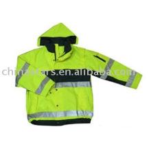 100% poliéster de alta visibilidad ropa reflectante