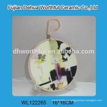 Sostenedores de cerámica hermosos del pote de la venta caliente con la cuerda de elevación
