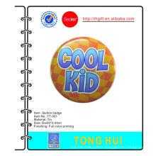 Cool Kid printed logo metal Tie button badges