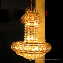 elegant gold drop k9 crystal chandelier ceiling light LT-70034