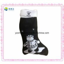 Hot Sell X-Mas Sock Plush Preto
