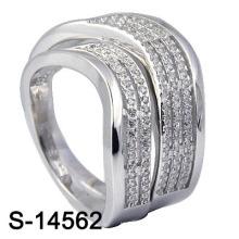 Bague de mariage avec bijoux en argent sterling 925 (S-14562. JPG)