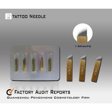 Agulha de tatuagem permanente maquiagem manual agulha de sobrancelha caneta - CO14