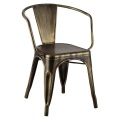 Tolix Gold Metal Old Age Aging Design Arm Chair