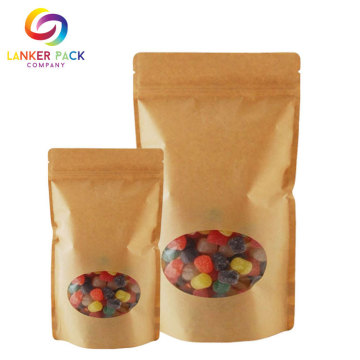 Matt Dicetak Kraft Paper Ziplock Coffee Bag