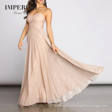 Sexy Pleated Gown Luxury Prom Dresses Women Lady Elegant Party Evening