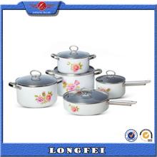 Hot Selling 10 PCS China Cookware Set avec S / S Handle