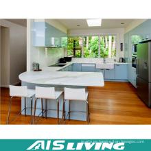 U-Shape Lacquer UV Kitchen Armario Muebles (AIS-K372)